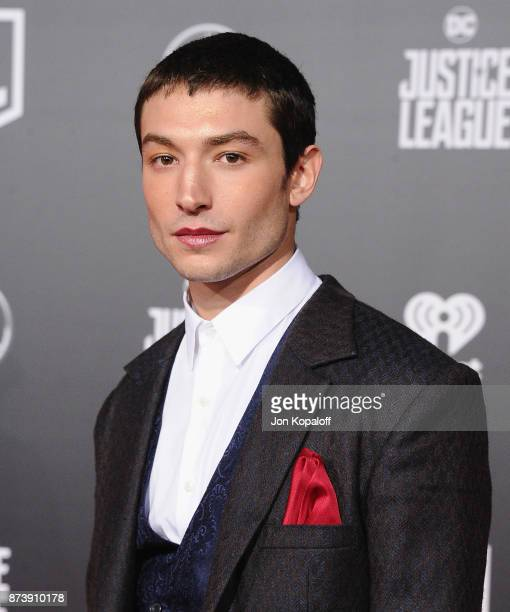 Actor Ezra Miller attends the Los Angeles Premiere of Warner Bros Pictures' 'Justice League' at Dolby Theatre on November 13 2017 in Hollywood...