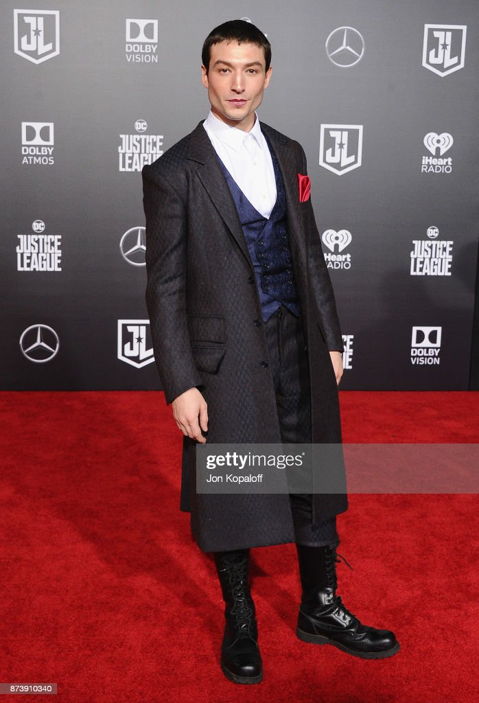 Actor Ezra Miller attends the Los Angeles Premiere of Warner Bros. Pictures' 'Justice League' at Dolby Theatre on November 13, 2017 in Hollywood, California.