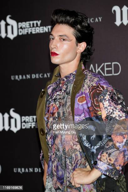 Actor Ezra Miller attends the photocall for 'URBAN DECAY' stayNAKED launch event on August 20 2019 in Seoul South Korea