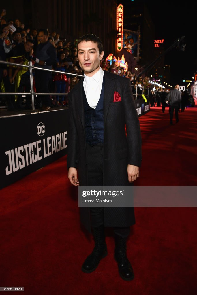 Actor Ezra Miller attends the premiere of Warner Bros. Pictures' 'Justice League' at Dolby Theatre on November 13, 2017 in Hollywood, California.