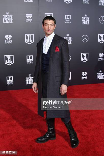 Actor Ezra Miller attends the premiere of Warner Bros Pictures' Justice League at Dolby Theatre on November 13 2017 in Hollywood California