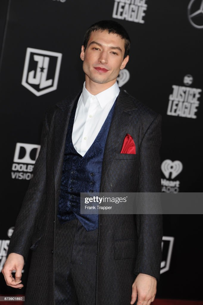Actor Ezra Miller attends the premiere of Warner Bros. Pictures' 'Justice League' held at the Dolby Theatre on November 13, 2017 in Hollywood, California.