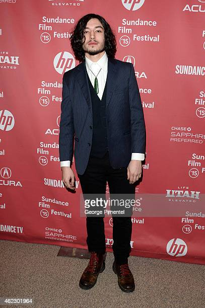 Actor Ezra Miller attends the 'The Stanford Prison Experiment' premiere during the 2015 Sundance Film Festival on January 26 2015 in Park City Utah