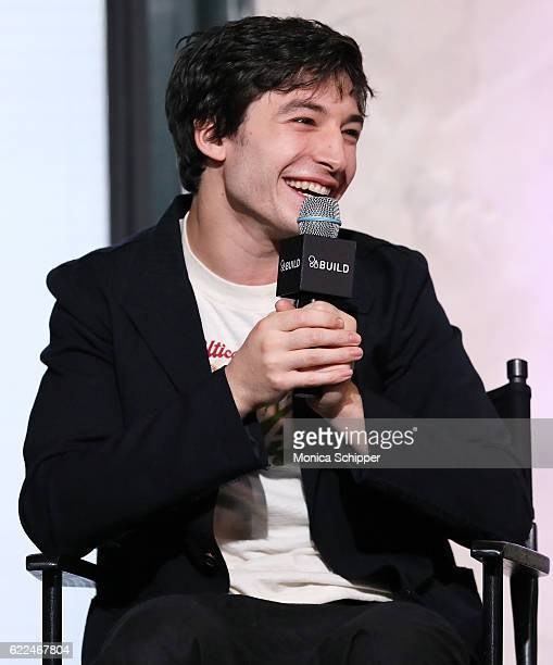 Actor Ezra Miller speaks at The Build Series Presents 'Fantastic Beasts And Where to Find Them' at AOL HQ on November 11 2016 in New York City