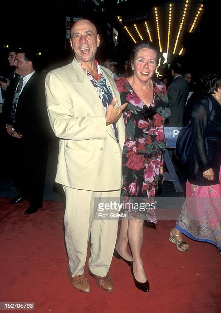 Actor F Murray Abraham and wife Kate Hannan attend the Mimic New York City Premiere on August 19 1997 at Ziegfeld Theater in New York City New York