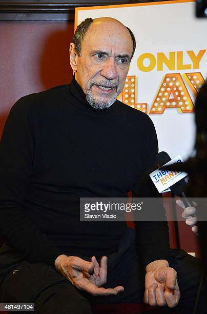 """Actor F. Murray Abraham attends Broadway's """"It's Only a Play"""" cast photo call at Sardi's on January 13, 2015 in New York City."""