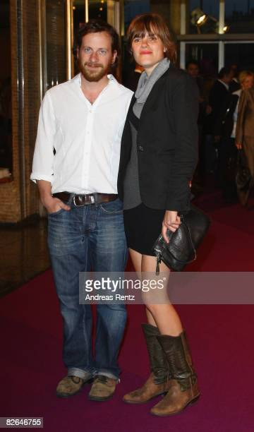 Actor Fabian Busch and actress Fritzi Haberlandt attend the 'Wolke 9' premiere at Kino International on September 3 2008 in Berlin Germany