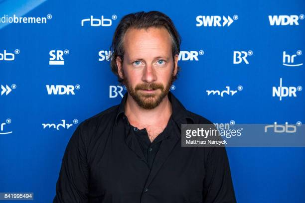 Actor Fabian Busch visits the ARD Stand at IFA Tech Fair on September 3 2017 in Berlin Germany
