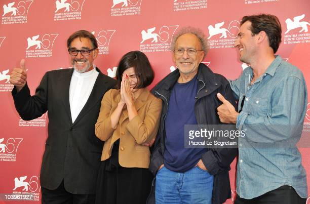 Actor Fabio Testi actress Shannyn Sossamon Director Monte Hellman and actor Tygh Runyan attends the Road To Nowhere photocall during the 67th Venice...