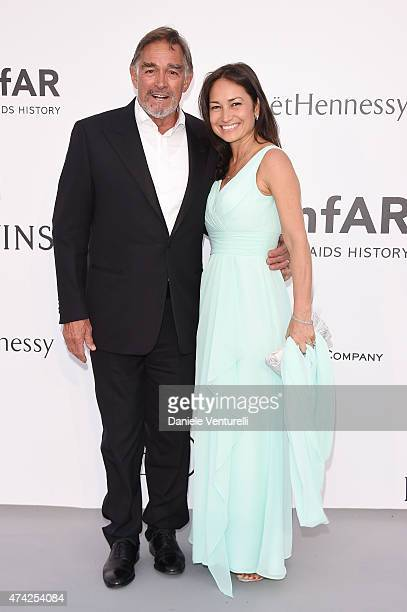 Actor Fabio Testi and Antonella Liguori attend amfAR's 22nd Cinema Against AIDS Gala, Presented By Bold Films And Harry Winston at Hotel du...