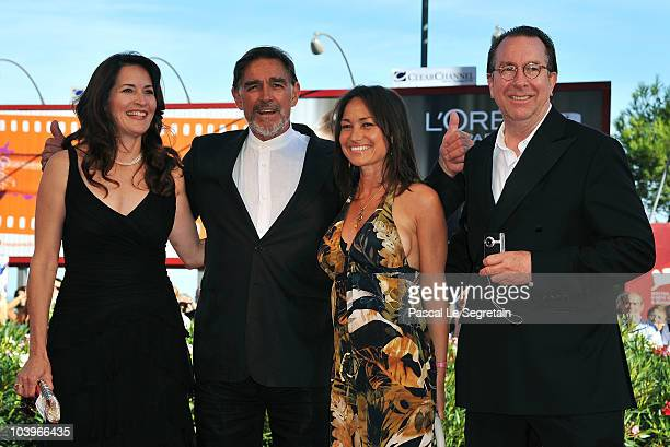 Actor Fabio Testi and guest and Steven Gaydos and guest attend the Road To Nowhere premiere during the 67th Venice Film Festival at the Sala Grande...