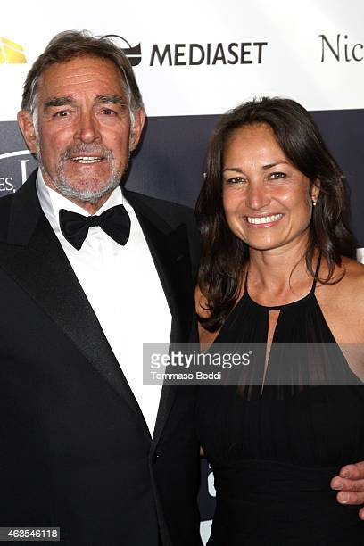Actor Fabio Testi and guest attend the Los Angeles Italia Opening Gala held at the TCL Chinese 6 Theatres on February 15, 2015 in Hollywood,...
