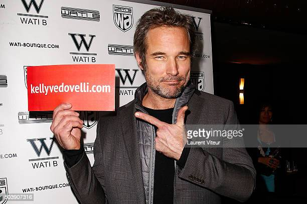Actor Fabrice Deville attends the Launch of Kelly Vedoveli's blog at Bridge Club on January 7 2016 in Paris France