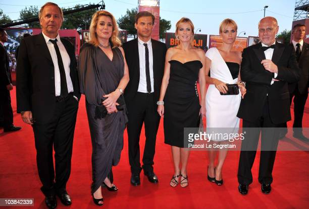 Actor Fabrice Luchini actress Catherine Deneuve director Francois Ozon actress Karin Viard actress Judith Godreche and festival director Marco Muller...