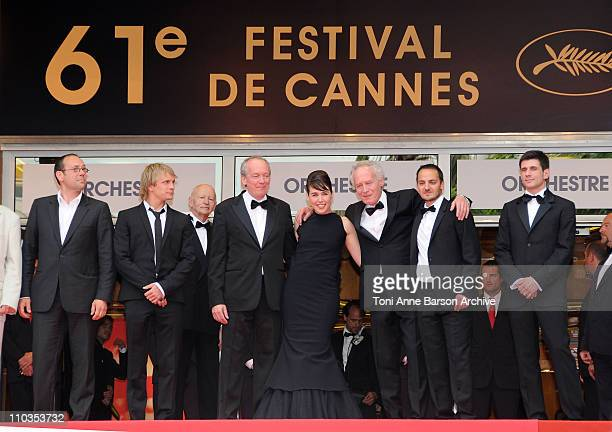 Actor Fabrizio Rongione Luc Dardenne director actress Arta Dobroshi JeanPierre Dardenne director and actor Jeremie Renier attend the 'Le Silence de...