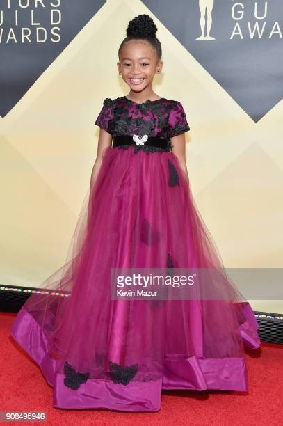 Actor Faithe C Herman attends the 24th Annual Screen Actors Guild Awards at The Shrine Auditorium on January 21 2018 in Los Angeles California...