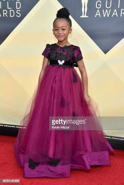 Actor Faithe Herman attends the 24th Annual Screen Actors Guild Awards at The Shrine Auditorium on January 21 2018 in Los Angeles California 27522_007