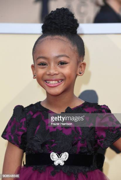 Actor Faithe Herman attends the 24th Annual Screen Actors Guild Awards at The Shrine Auditorium on January 21 2018 in Los Angeles California