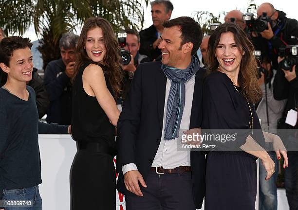 Actor Fantin Ravat Actress Marine Vacth Director Francois Ozon and Actress Geraldine Pailhas attend the 'Jeune Jolie' Photocall during the 66th...