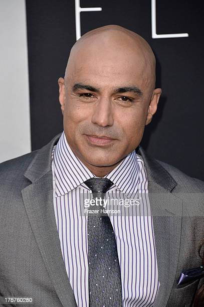 Actor Faran Tahir arrives at the premiere of TriStar Pictures' Elysium at Regency Village Theatre on August 7 2013 in Westwood California
