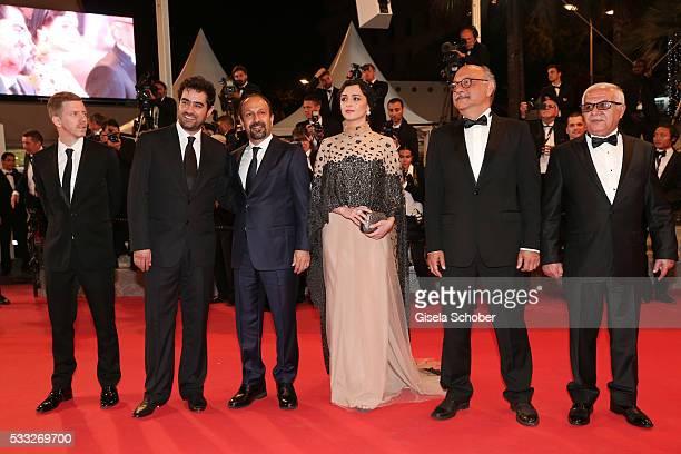 Actor Farid Sajjadihosseini film editor Babak Karimi actress Taraneh Alidoosti director Asghar Farhadi actor Shahab Hosseini and distributer...