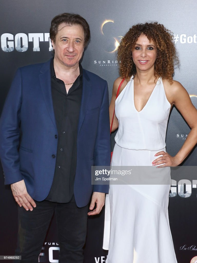 Actor Federico Castelluccio and Yvonne Maria Schaefer attend the 'Gotti' New York premiere at SVA Theater on June 14, 2018 in New York City.