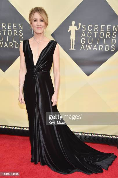 Actor Felicity Huffman attends the 24th Annual Screen Actors Guild Awards at The Shrine Auditorium on January 21 2018 in Los Angeles California...