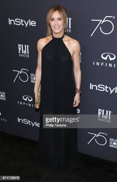 Actor Felicity Huffman attends the HFPA's and InStyle's Celebration of the 2018 Golden Globe Awards Season and the Unveiling of the Golden Globe...