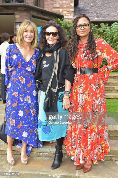 Actor Felicity Huffman host Diane von Furstenberg and director Ava DuVernay attend the DVF Oscar Luncheon honoring the female nominees of the 90th...