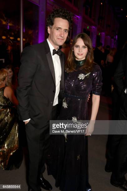 Actor Felicity Jones attends the 2017 Vanity Fair Oscar Party hosted by Graydon Carter at Wallis Annenberg Center for the Performing Arts on February...