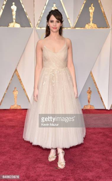 Actor Felicity Jones attends the 89th Annual Academy Awards at Hollywood Highland Center on February 26 2017 in Hollywood California
