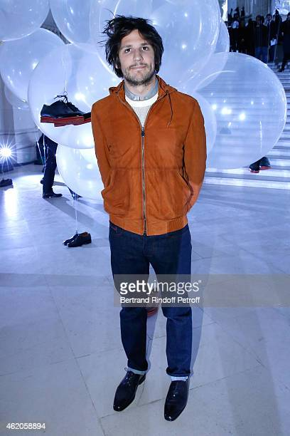 Actor Felix de Givry attends the Berluti Menswear Fall/Winter 20152016 Show as part of Paris Fashion Week Held at Musee des Arts Decoratifs on...
