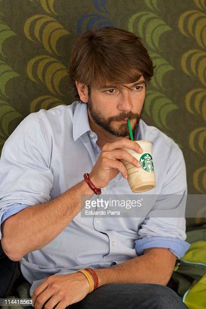 Actor Felix Gomez attends new frapuccino by Starbucks photocall at Starbucks office on May 19 2011 in Madrid Spain