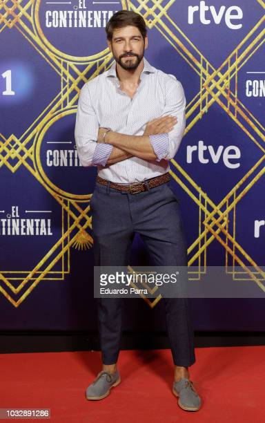 Actor Felix Gomez attends the 'El Continental' premiere at Callao cinema on September 13 2018 in Madrid Spain