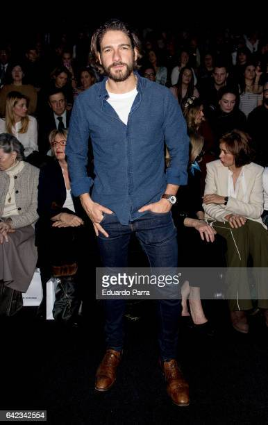 Actor Felix Gomez attends the front row of Angel Schelesser show during Mercedes Benz Fashion Week Madrid Autumn / Winter 2017 at Ifema on February...