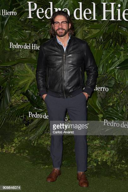 Actor Felix Gomez attends the Pedro Del Hierro fashion show during the Mercedes Benz Fashion Week Autumn/Winter 2018 on January 24 2018 in Madrid...