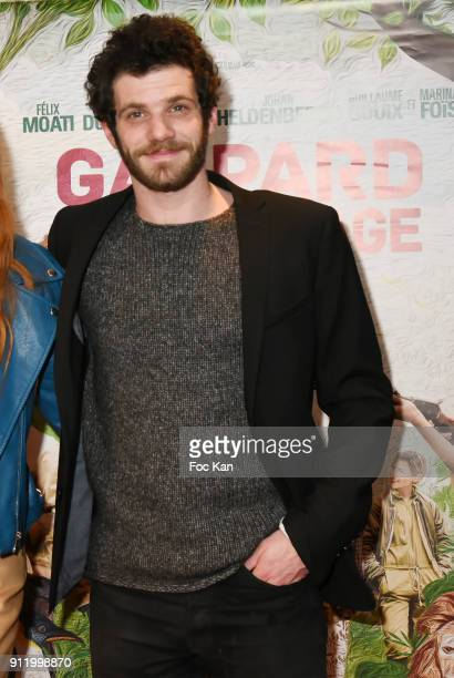 Actor Felix Moati attends the 'Gaspard va au mariage' premiere at UGC Cine Cite des Halles on January 29 2018 in Paris France