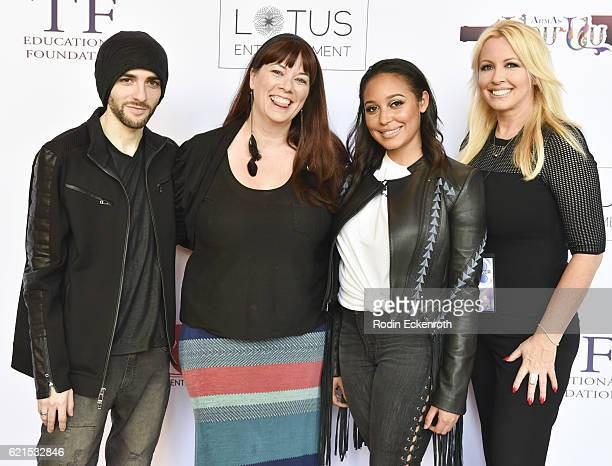 Actor Felix Ryan producer Leah Cevoli actress Emily Cheree and director Robin Bain attend the screening of Lesin Films' Nowhereland at The Egyptian...