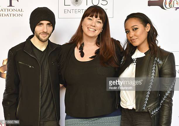 Actor Felix Ryan producer Leah Cevoli and actress Emily Cheree attend the screening of Lesin Films' Nowhereland at The Egyptian Theatre on November 6...