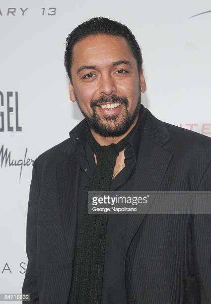 Actor Felix Solis attends the Cinema Society and Angel by Thierry Mugler screening of 'The International' at AMC Lincoln Square on February 9 2009 in...