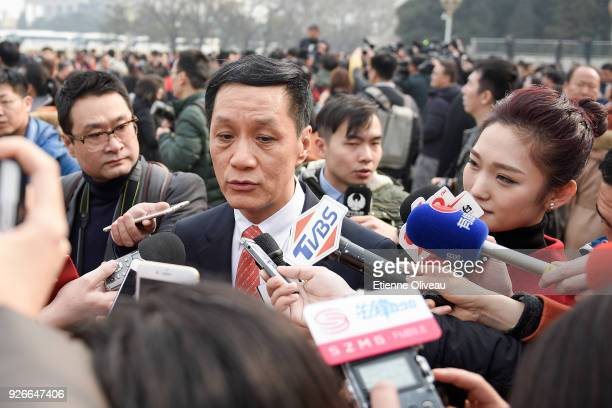 Actor Feng Yuanzheng attends the opening session of the Chinese People's Political Consultative Conference at the Great Hall of the People on March 3...