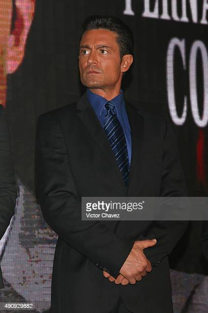 Actor Fernando Colunga attends the Pasion y Poder press conference at Live Aqua Bosques on October 1 2015 in Mexico City Mexico