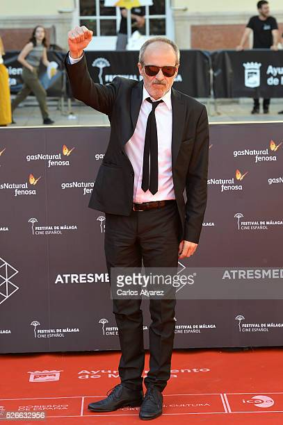 Actor Fernando Guillen Cuervo attends Nuestros Amantes premiere at the Cervantes Teather during the 19th Malaga Film Festival on April 30 2016 in...