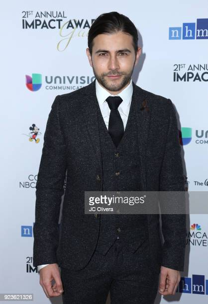 Actor Fernando Noriega attends the 21st Annual National Hispanic Media Coalition Impact Awards Gala at Regent Beverly Wilshire Hotel on February 23...