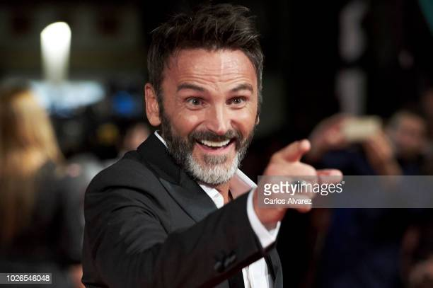 Actor Fernando Tejero attends 'El Continental' premiere at the Principal Teather during the FesTVal 2018 Day 1 on September 3 2018 in VitoriaGasteiz...