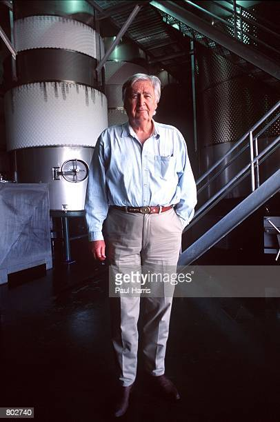 """Actor Fess Parker who starred in Disney's """"Davy Crockett"""" series in the 1950's stands at his winery near his home May 25, 2000 in Los Olivos, CA."""