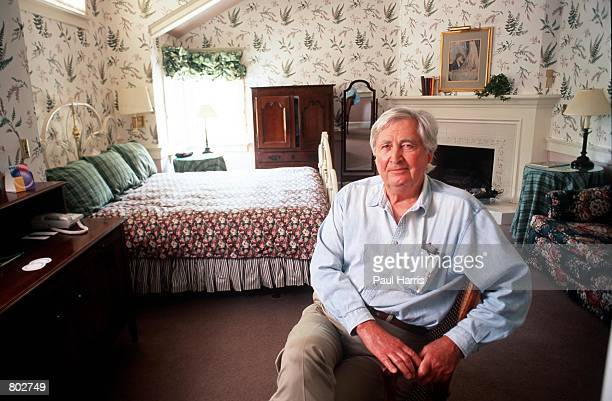 """Actor Fess Parker who starred in Disney's """"Davy Crockett"""" series in the 1950's at his Wine Country Inn & Spa May 25, 2000 in Los Olivos, CA."""