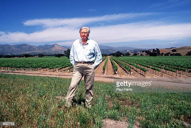 """Actor Fess Parker who starred in Disney's """"Davy Crockett"""" series in the 1950's stands outside his winery near his home May 25, 2000 in Los Olivos, CA."""