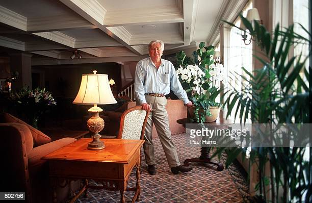 Actor Fess Parker who starred in Disney's Davy Crockett series in the 1950's stands at his Inn May 25 2000 in Los Olivos CA