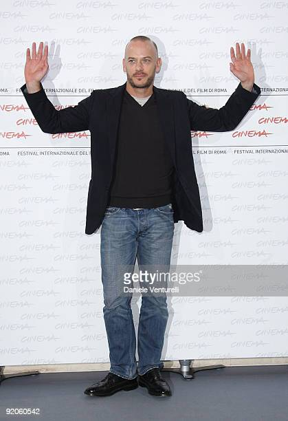 Actor Filippo Nigro attends the Oggi Sposi Photocall during day 6 of the 4th Rome International Film Festival held at the Auditorium Parco della...